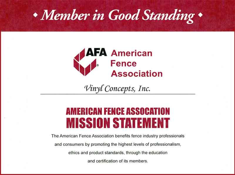 AFA Member in Good Standing