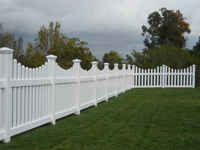 Vinyl Scalloped Top Picket Fence Design Ideas Pictures