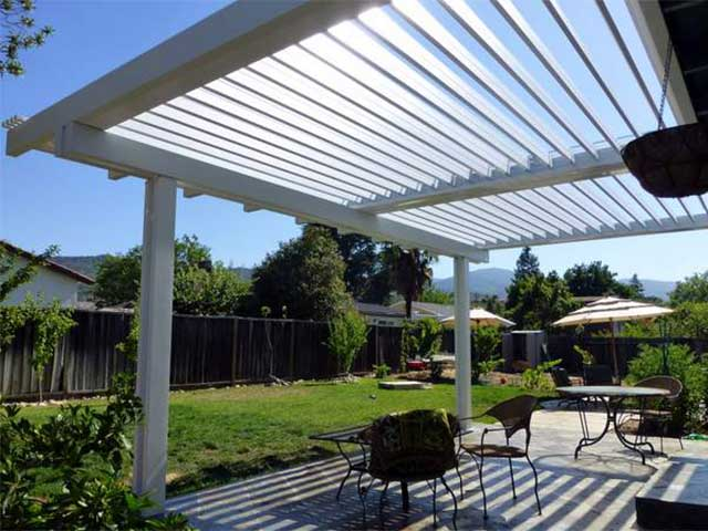 open view adjustable vinyl patio cover