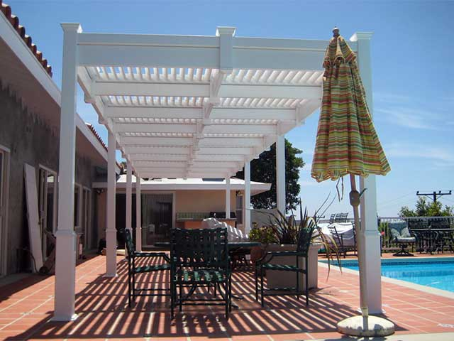 louvered top vinyl patio cover