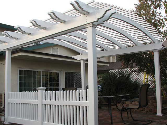 vinyl picket patio cover design ideas pictures vinyl concepts. Black Bedroom Furniture Sets. Home Design Ideas