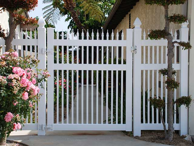 Vinyl Single Swing Gate Design Ideas, Pictures | Vinyl Concepts
