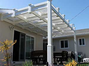 louvered vinyl patio cover