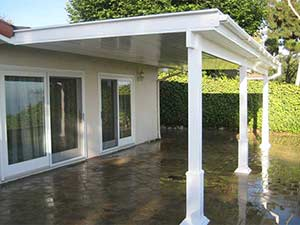 solid watertight vinyl patio cover