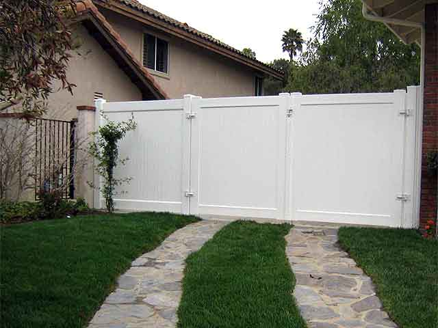 Vinyl Double Swing Gate Design Ideas Pictures Vinyl