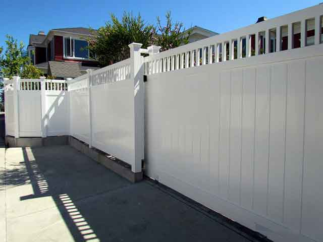 Vinyl Rolling Gate Design Ideas Pictures Vinyl Concepts